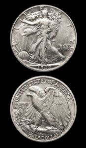 1939 Walking Liberty Silver Half Dollar – XF